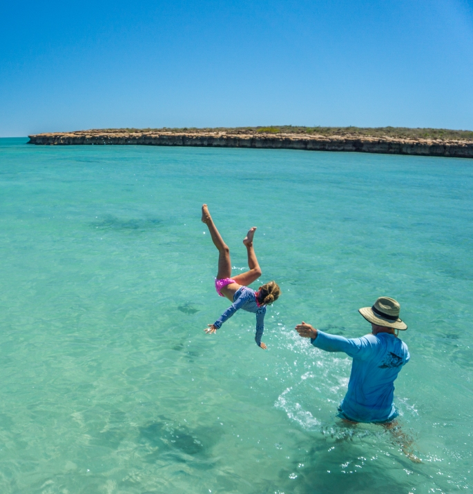 Flying high! Family fishing adventures at Dampier Archipelago